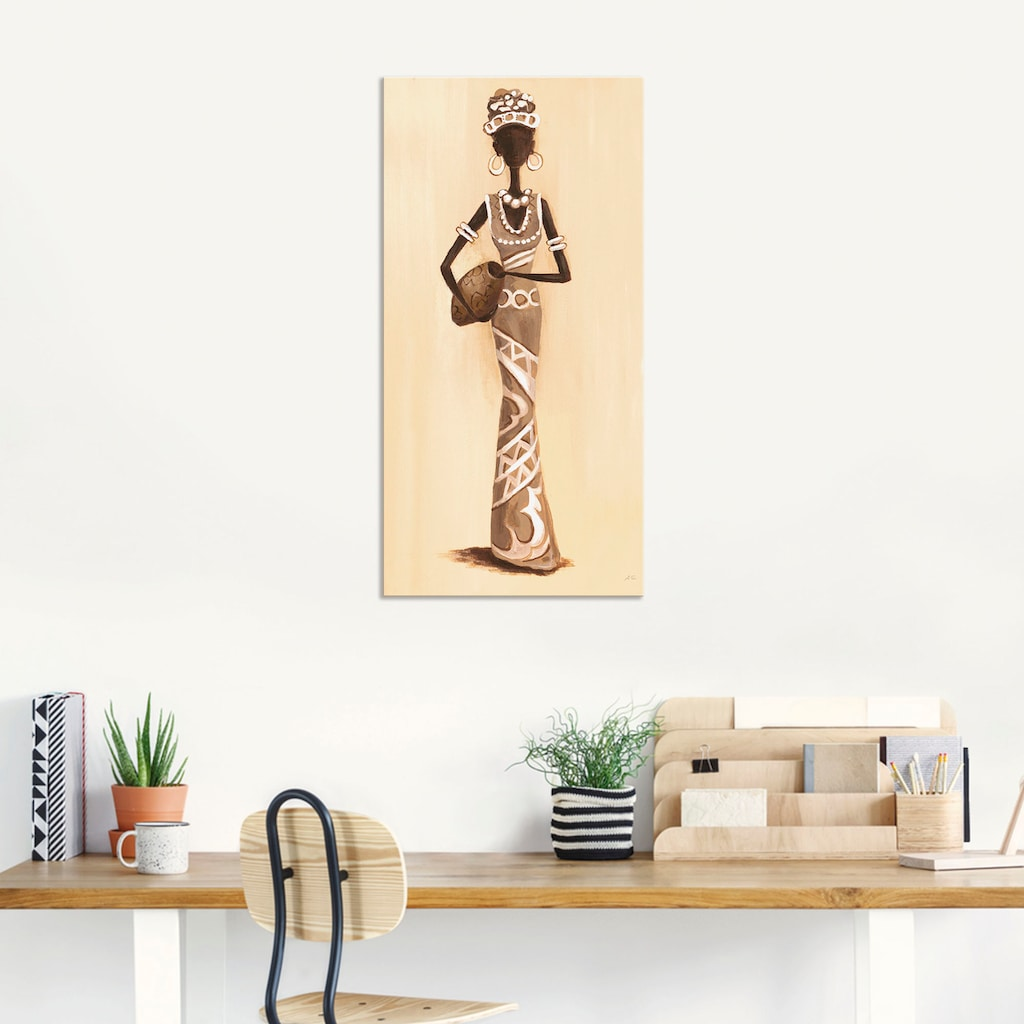 Artland Wandbild »Afrikanerin - Vorderseite«, Frau, (1 St.)