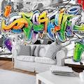 Consalnet Fototapete »Buntes Graffiti«, Motiv