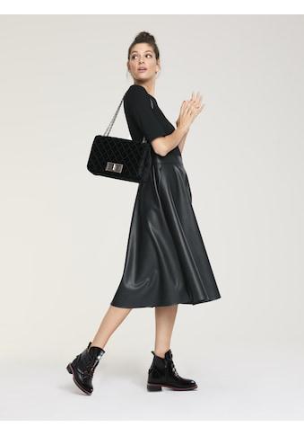 Kleid mit Lederrockteil kaufen