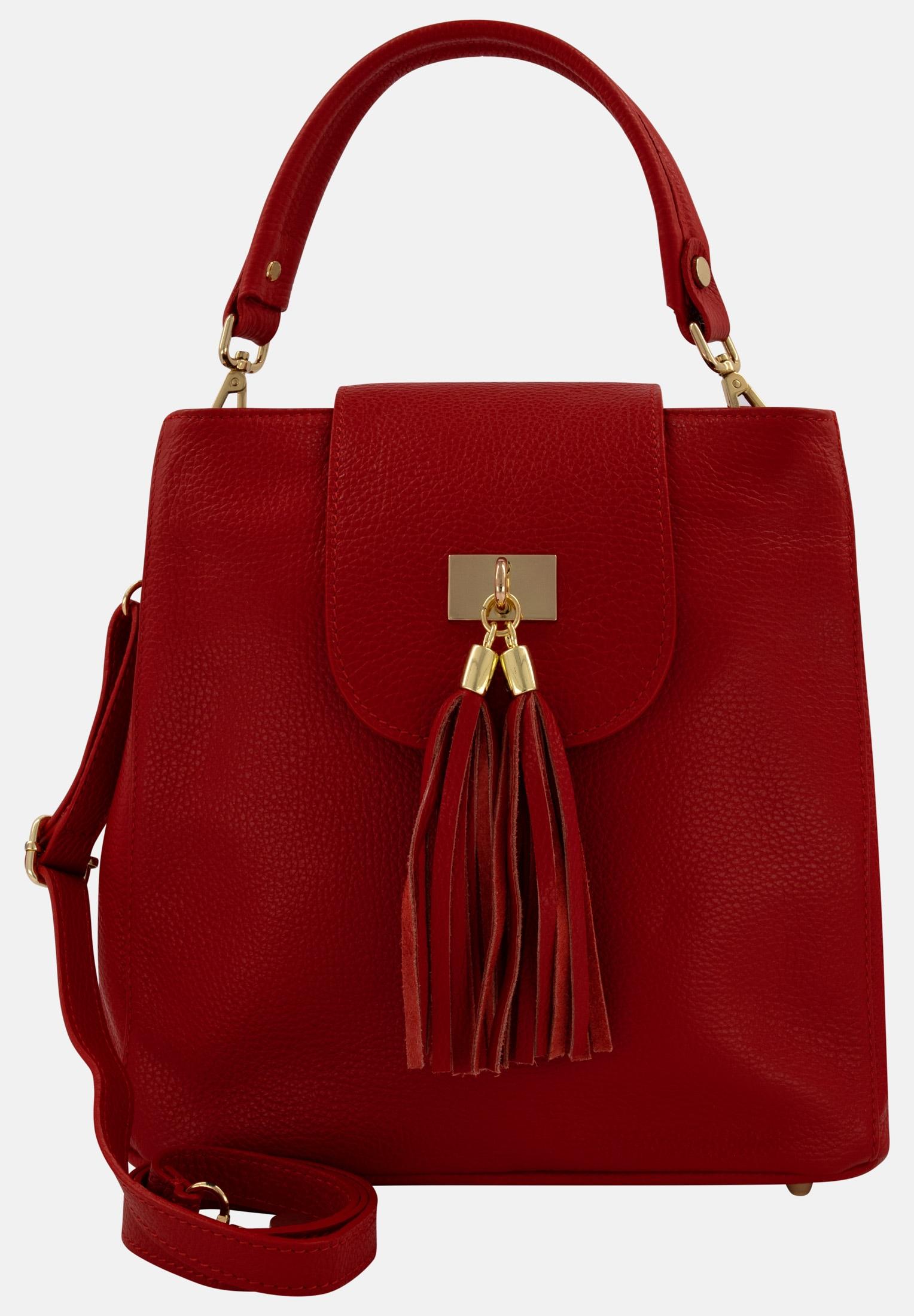 er piu -  Handtasche, aus echtem Leder