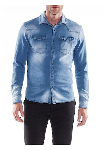 Herrlicher Jeanshemd mit Used - Effekten »Clint« kaufen