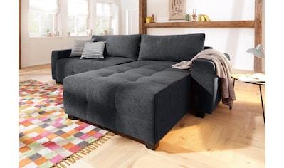 Home Affaire Ecksofa, Wahlweise Mit Bettfunktion Und Bettkasten, Feine  Steppung Im Sitzbereich Kaufen