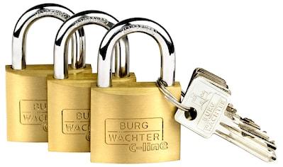 BURG WÄCHTER Set: Vorhängeschloss »Trio 222 40 SB«, Vorhangschloss - Set kaufen