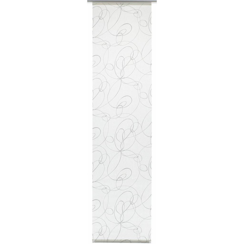 GARDINIA Schiebegardine »Flächenvorhang Stoff Curling mit silbernen Paneelwagen«, HxB: 245x60