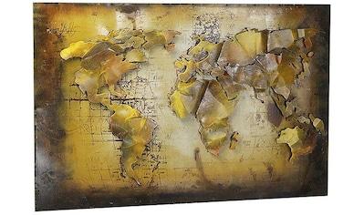 Home affaire Metallbild »3D WELTKARTE« kaufen