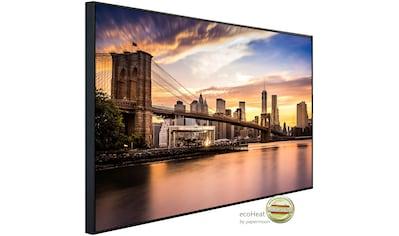 Papermoon Infrarotheizung »Brücke Brooklyn bei Sonnenuntergang«, sehr angenehme... kaufen