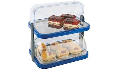 APS Buffet-Vitrine »Doppeldecker«, 2-stufig, inkl. 4 Kühlakkus kaufen