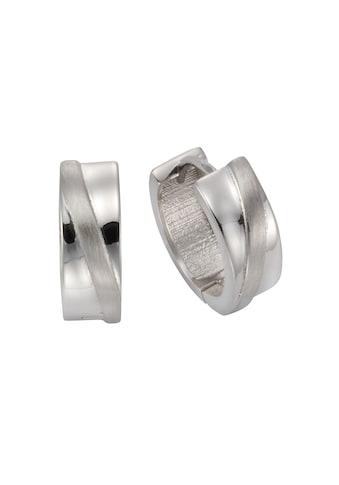 Vivance Paar Creolen »925 Silber rhodiniert glanz/matt«, mit Geschenketui kaufen