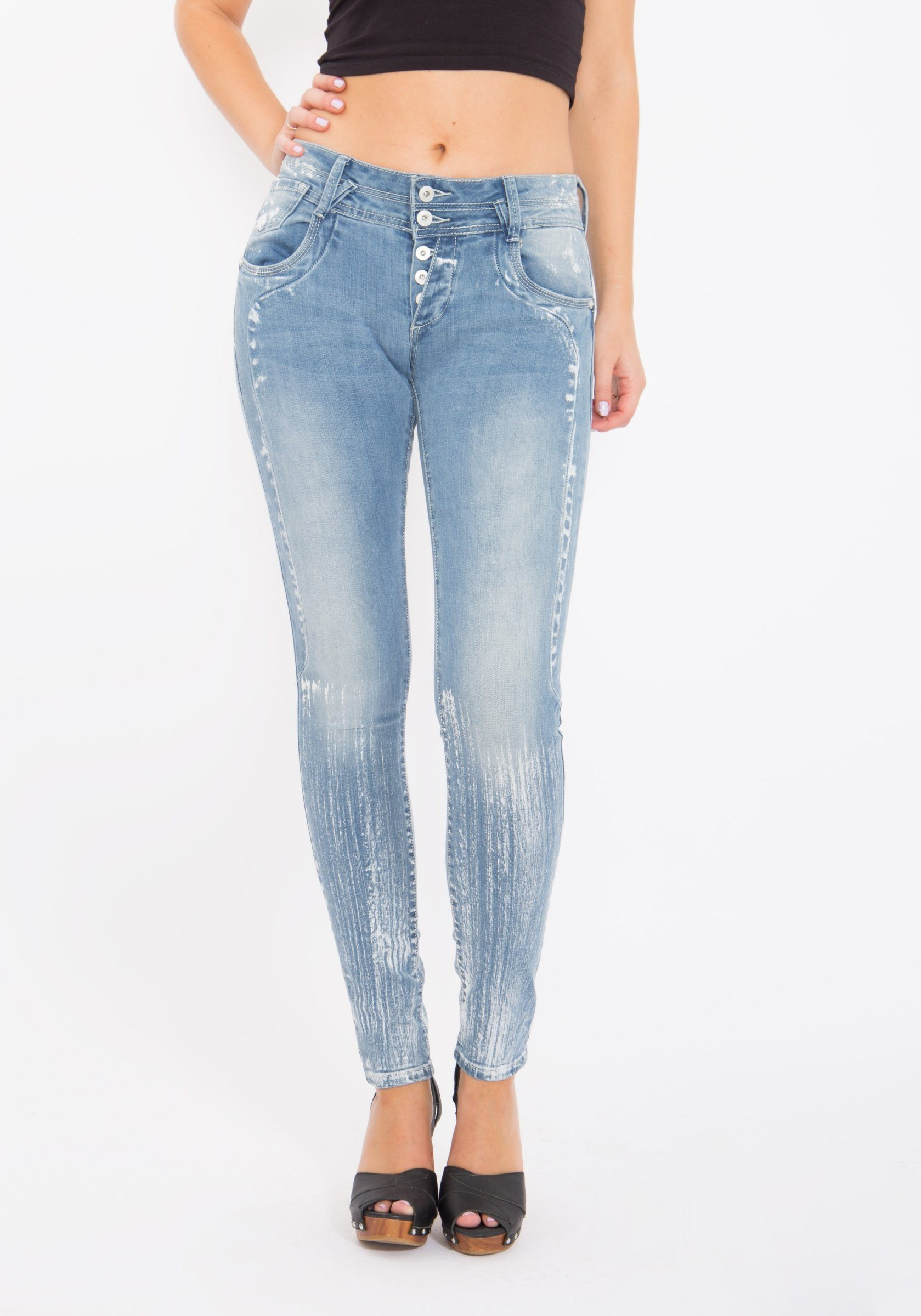 blue monkey -  Skinny-fit-Jeans Anny 1462