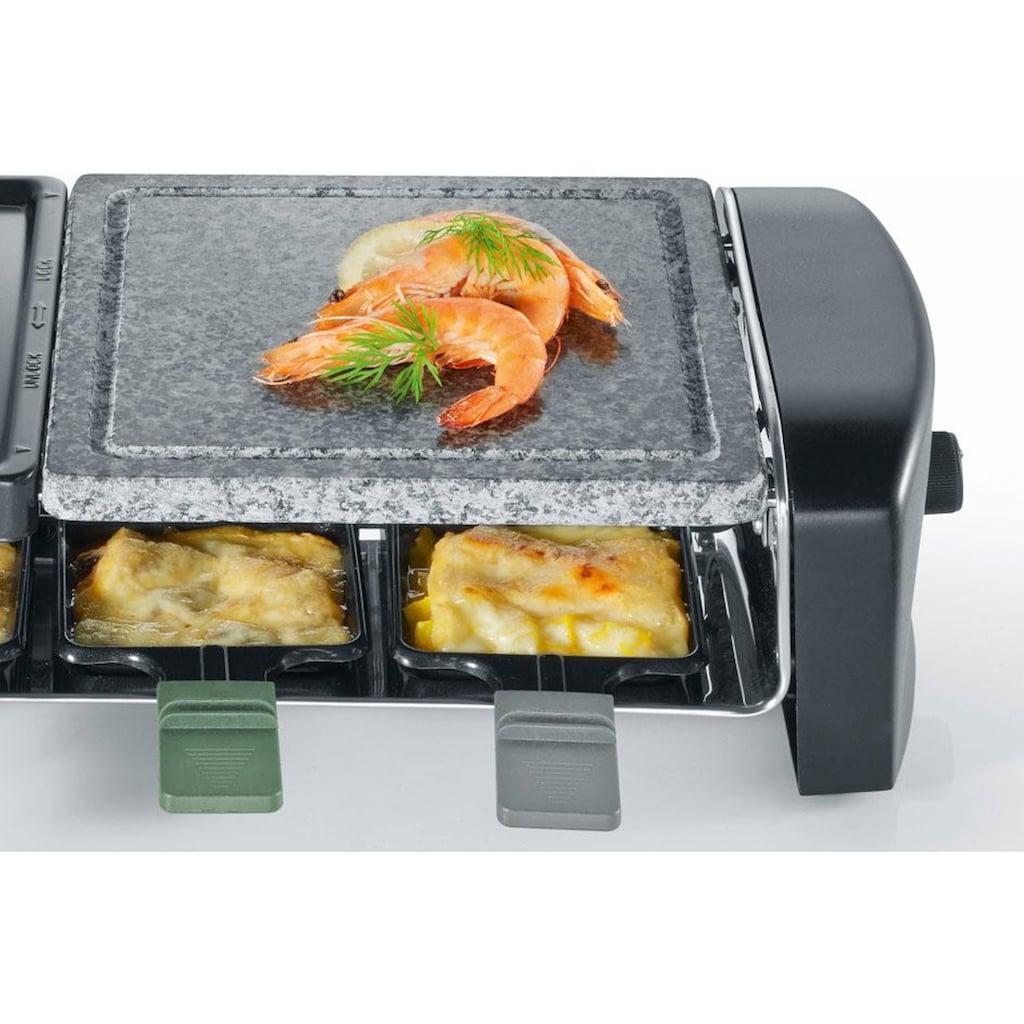 Severin Raclette »RG 9645«, 8 St. Raclettepfännchen, 1400 W, Raclette Pfännchen mit farbigen Griffen