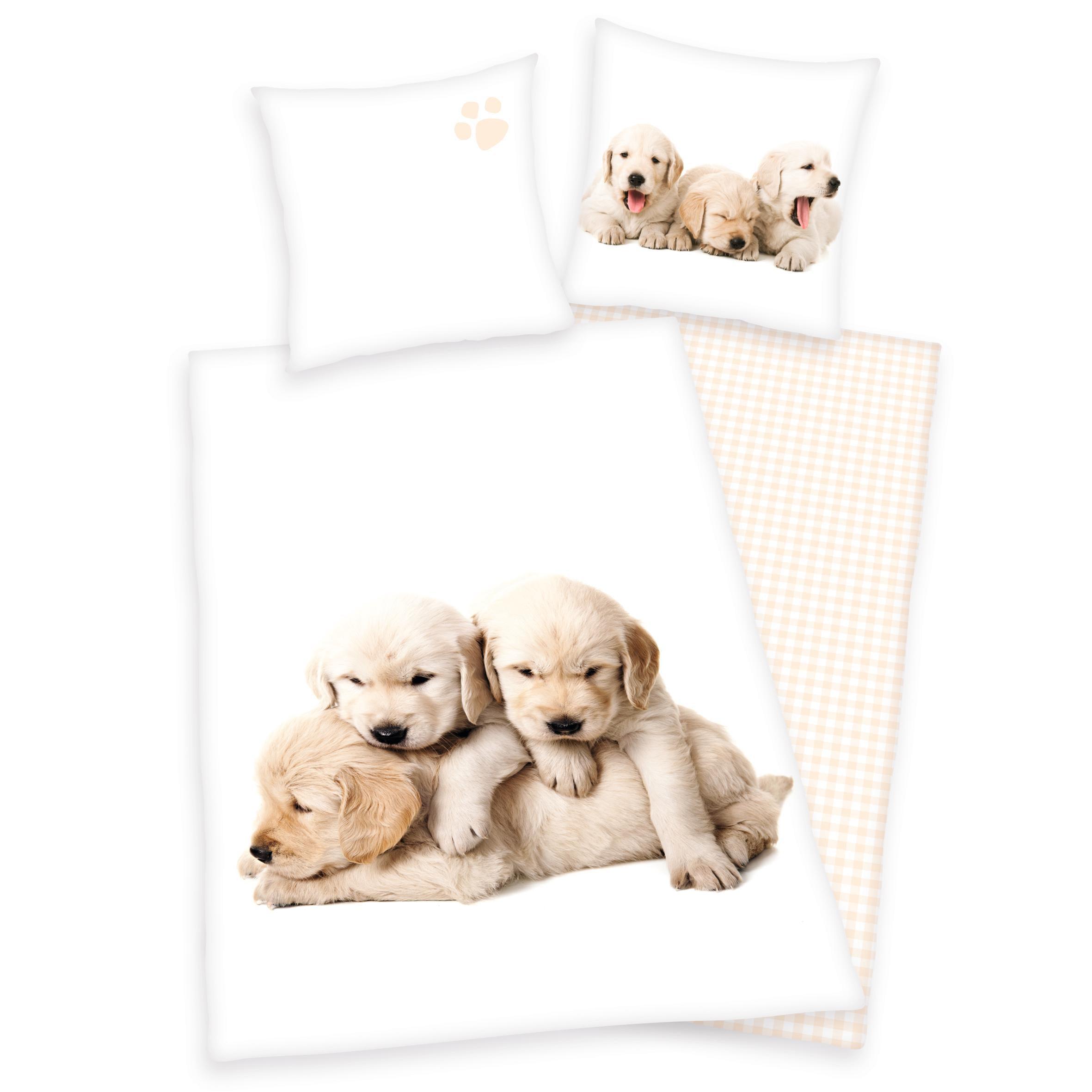 Kinderbettwäsche »Hunde Welpen«, Young Collection