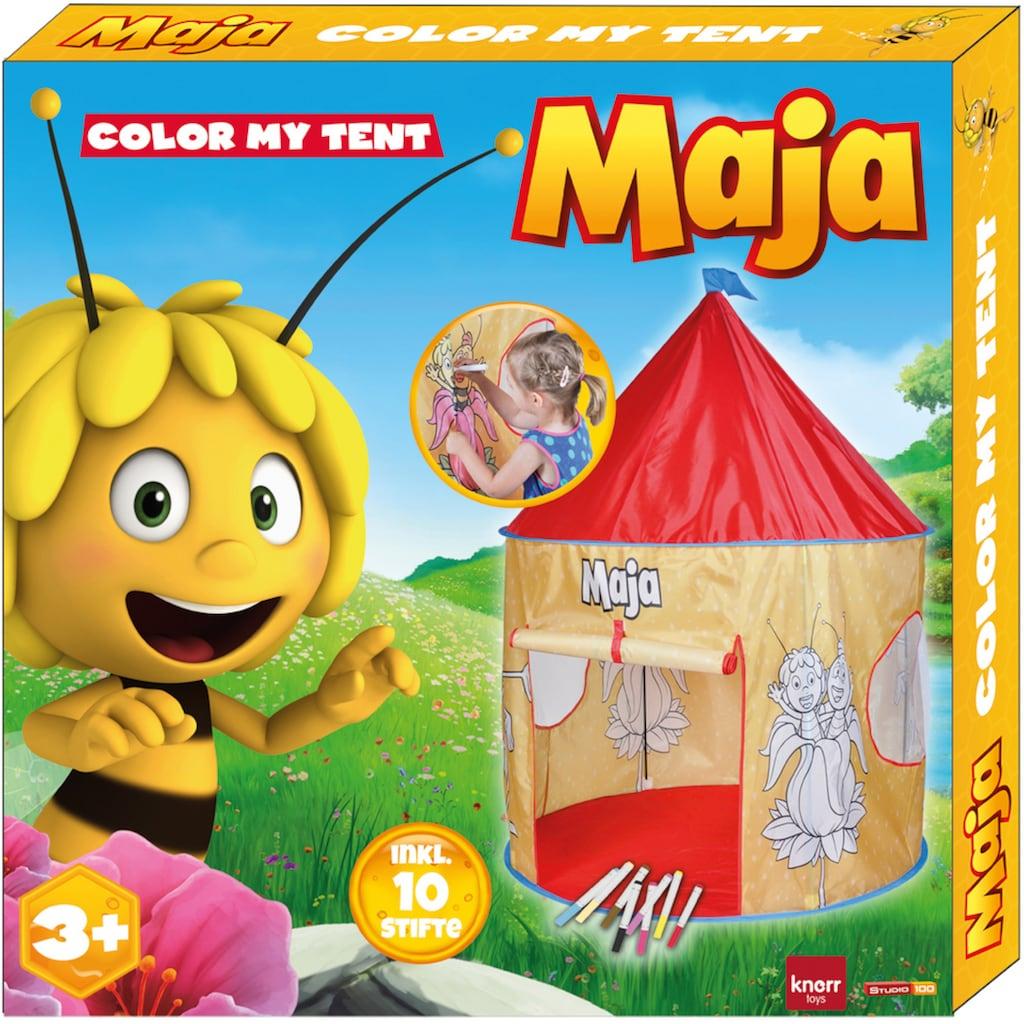 Knorrtoys® Spielzelt »Biene Maja«, mit 10 bunten Stiften