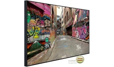 Papermoon Infrarotheizung »Graffiti Gasse«, sehr angenehme Strahlungswärme kaufen