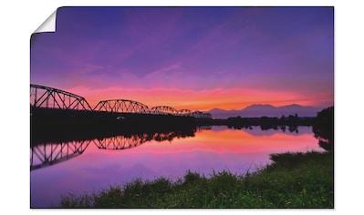 Artland Wandbild »Alte Eisenbruecke in Kaohsiung  -  Taiwan« kaufen