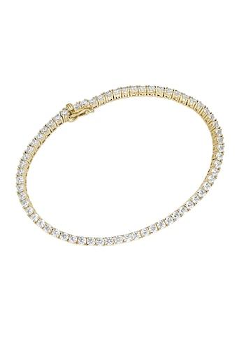 Luigi Merano Tennisarmband »Tennisarmband mit Zirkonia, Gold 375« kaufen