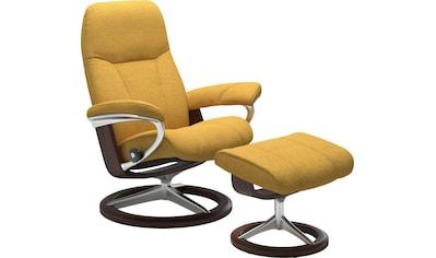 Stressless® Relaxsessel »Consul«, mit Hocker, mit Signature Base, Größe S, Gestell Eiche kaufen