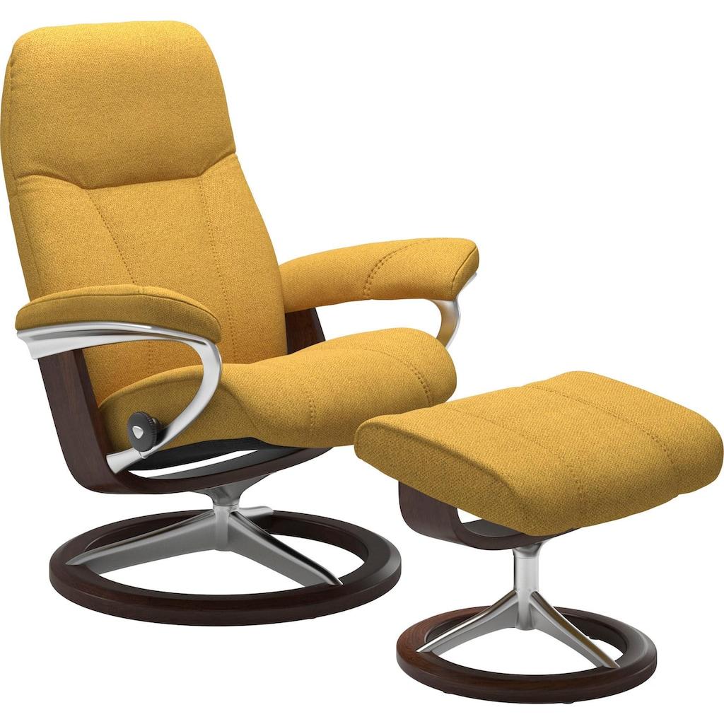 Stressless® Relaxsessel »Consul«, mit Hocker, mit Signature Base, Größe S, Gestell Eiche