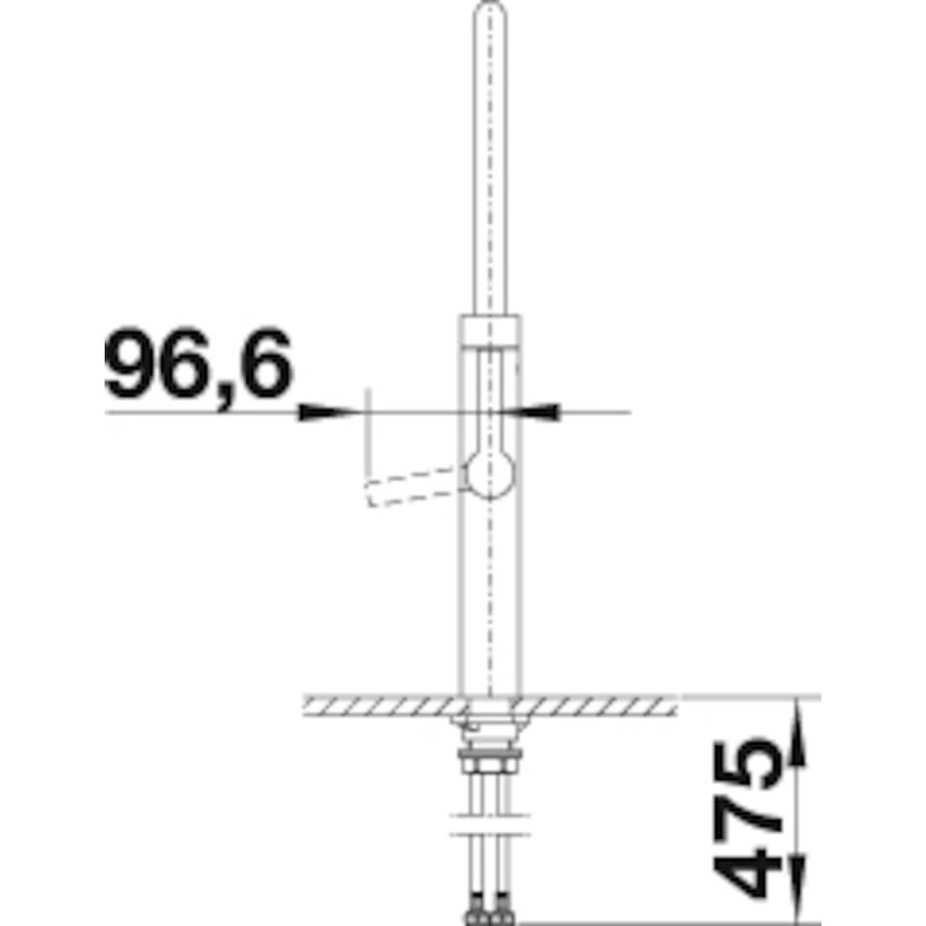 Blanco Küchenarmatur »BLANCOCULINA-S«, Hochdruck, flexible Zweistrahlbrause mit Umschalt-Funktion