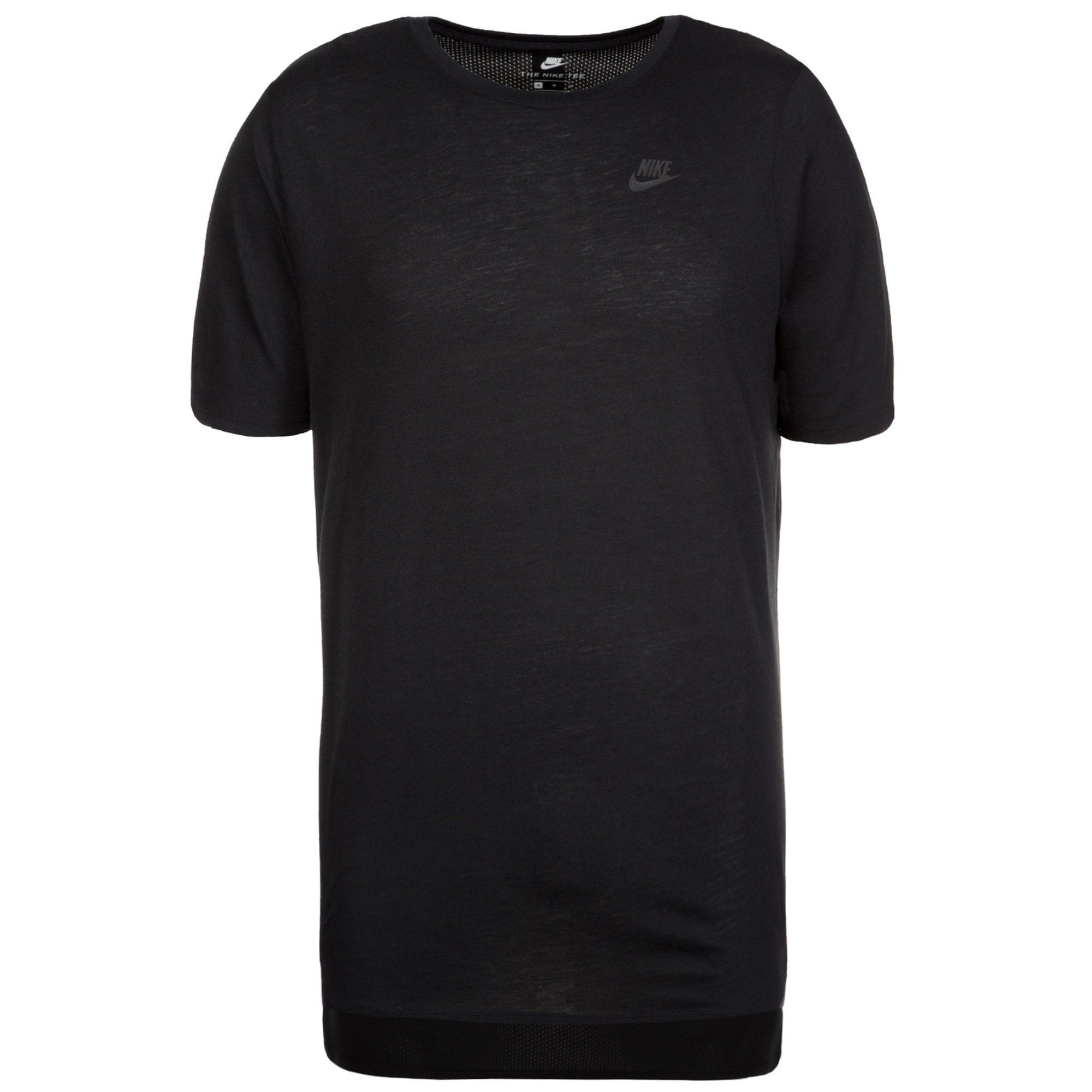 Nike Sportswear Triblend Droptail T-Shirt Herren | Sportbekleidung > Sportshirts > T-Shirts | Schwarz | Polyester - Baumwolle | Nike Sportswear