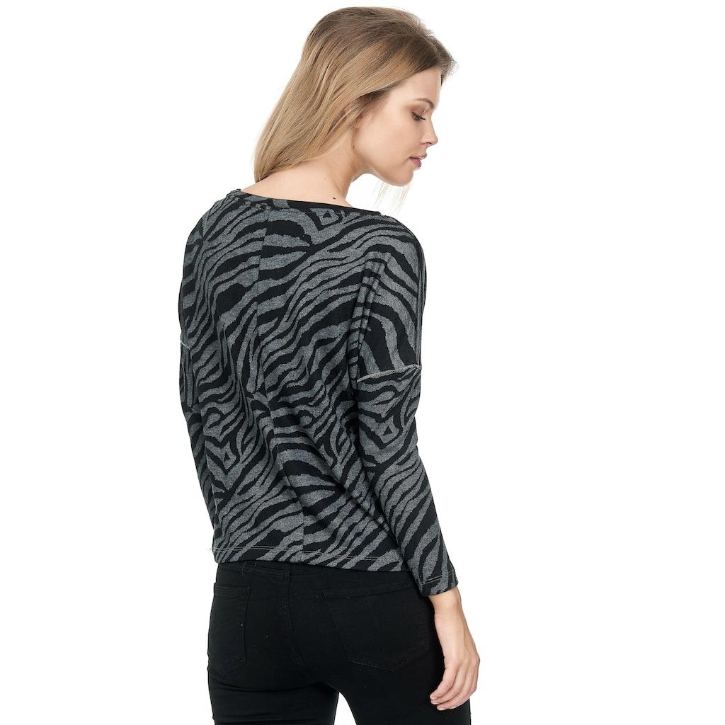 Decay Langarmshirt, mit coolem Zebra-Muster