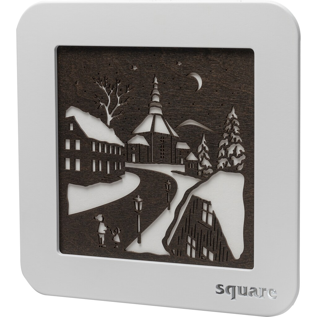 Weigla LED-Bild »Square - Wandbild Seiffen«, (1 St.), mit Timer, einseitiges Motiv