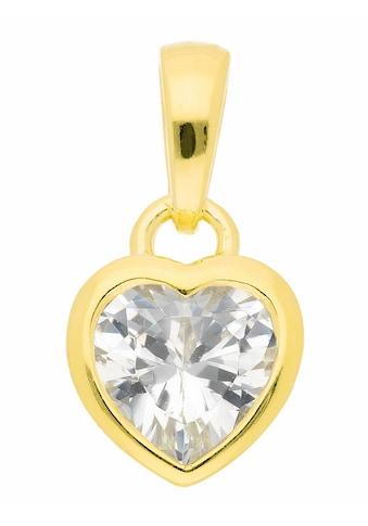 Adelia´s Kettenanhänger »925 Silber Anhänger Herz mit Zirkonia« kaufen