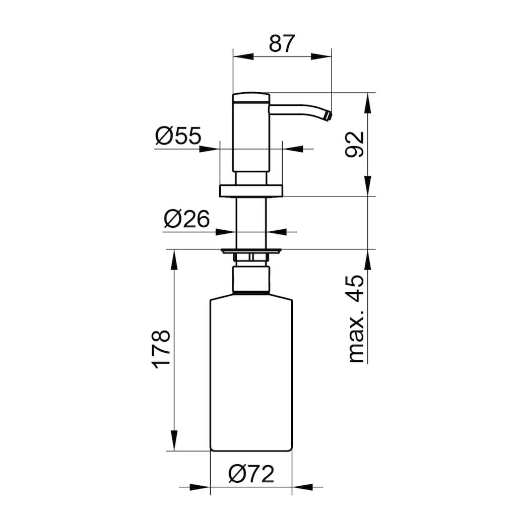 Keuco Seifenspender »Plan«, Einbaumodell, verchromt, 500 ml