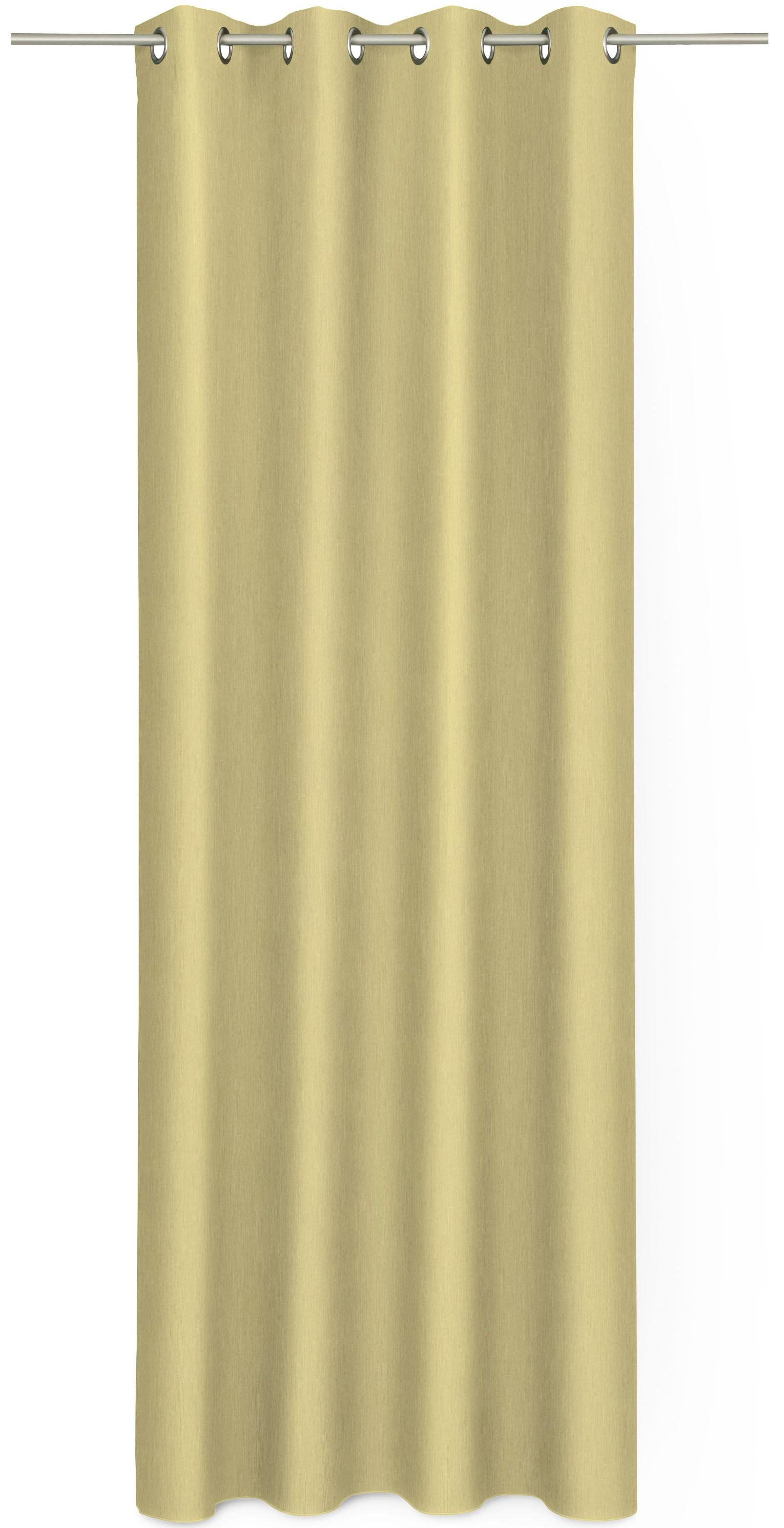 Gardine, Ado Goldkante, »Prado«, mit Ösen, nach Maß
