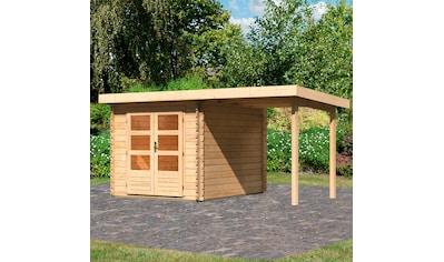 WOODFEELING Set: Gartenhaus »Bastrup 4«, BxT: 455x333 cm, mit Anbaudach kaufen