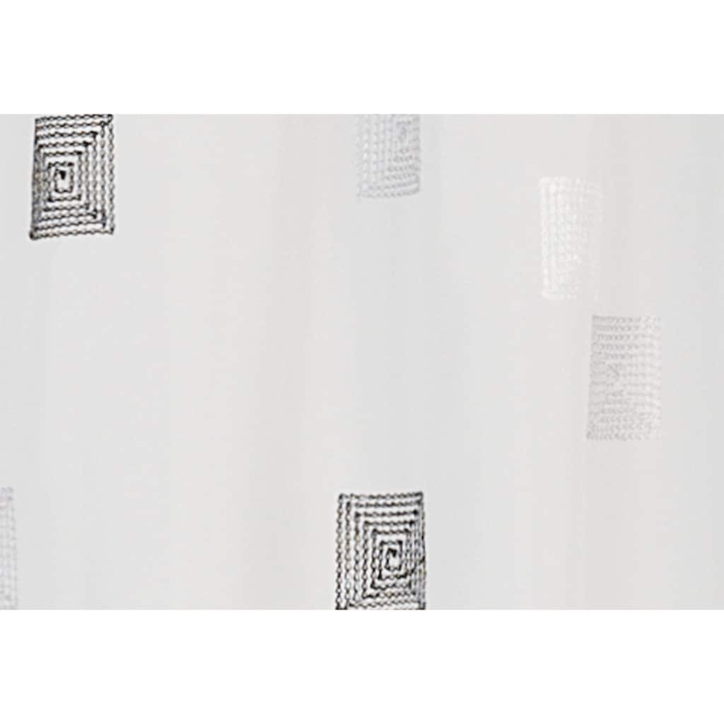 ELBERSDRUCKE Scheibengardine »Quadro«, HxB: 48x140