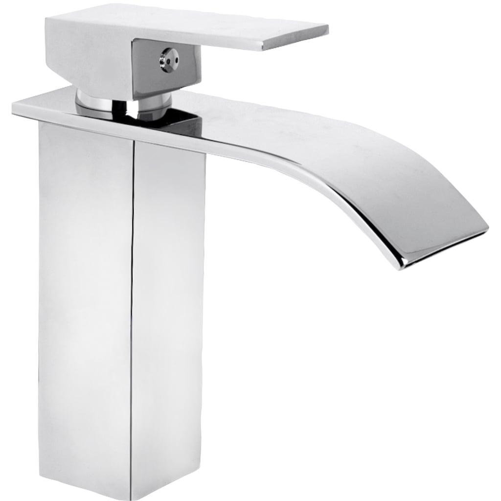 CORNAT Waschtischarmatur »WT EHM Wasserfall chrom«, Schwall-Auslauf