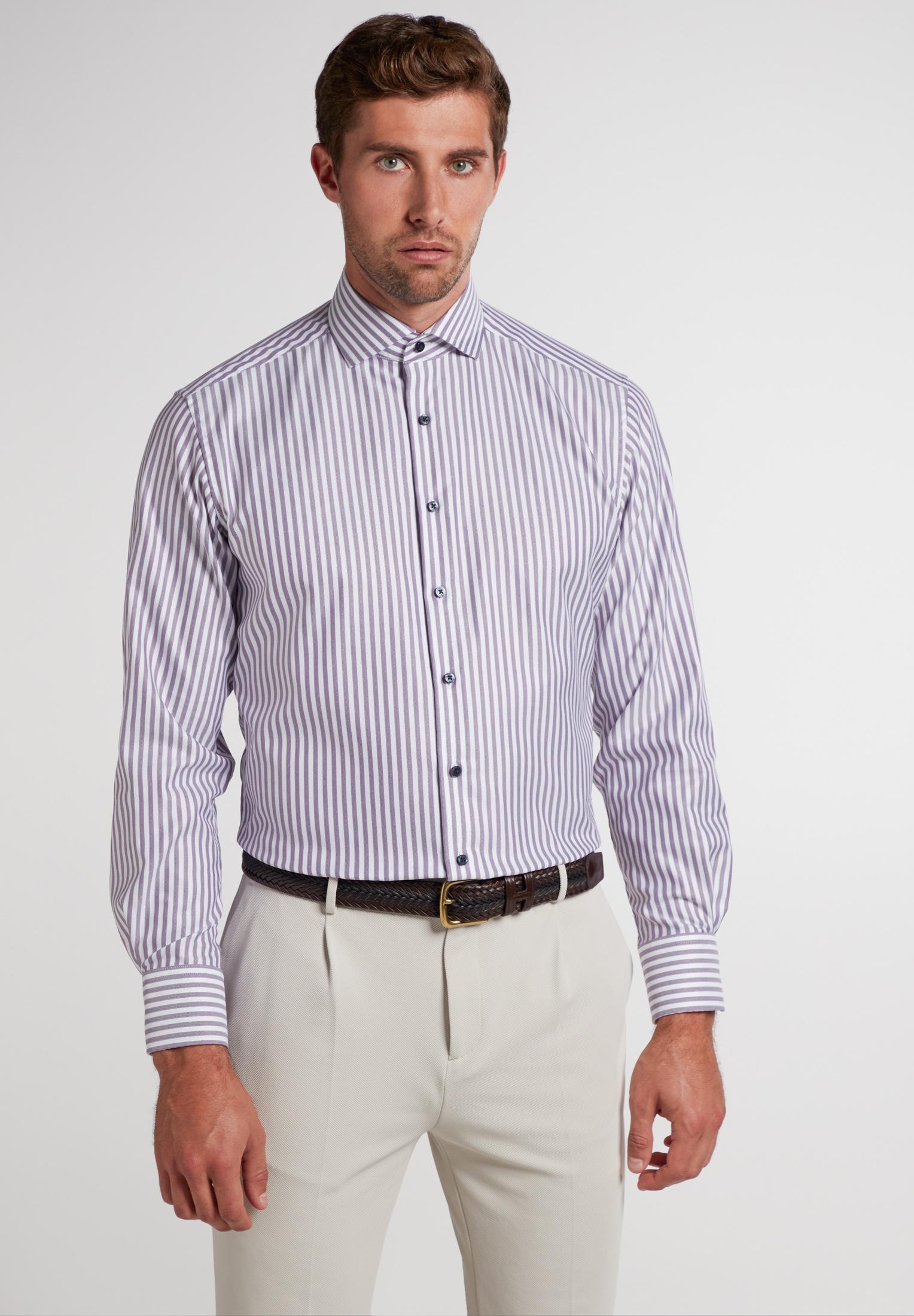 Eterna Businesshemd MODERN FIT, Langarm lila Herren Business Hemden Businessmode