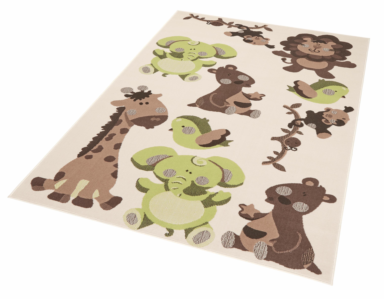 Kinderteppich Zootiere Zala Living rechteckig Höhe 9 mm | Kinderzimmer > Textilien für Kinder > Kinderteppiche | Grün | Zala Living