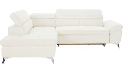COTTA Polstergarnitur, (Set), wahlweise mit Bettfunktion und Bettkasten, Hocker und... kaufen