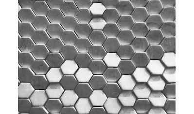 LIVINGWALLS Fototapete »Designwalls Hexagon Surface 1«, Premium Vlies kaufen