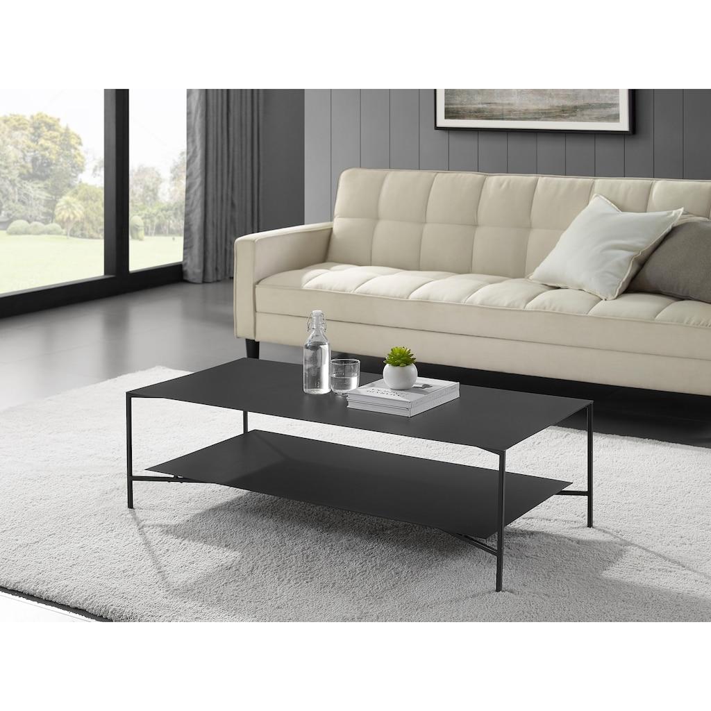 Places of Style Couchtisch »Osterville«, Modernes Design, Tischplatten aus Metall