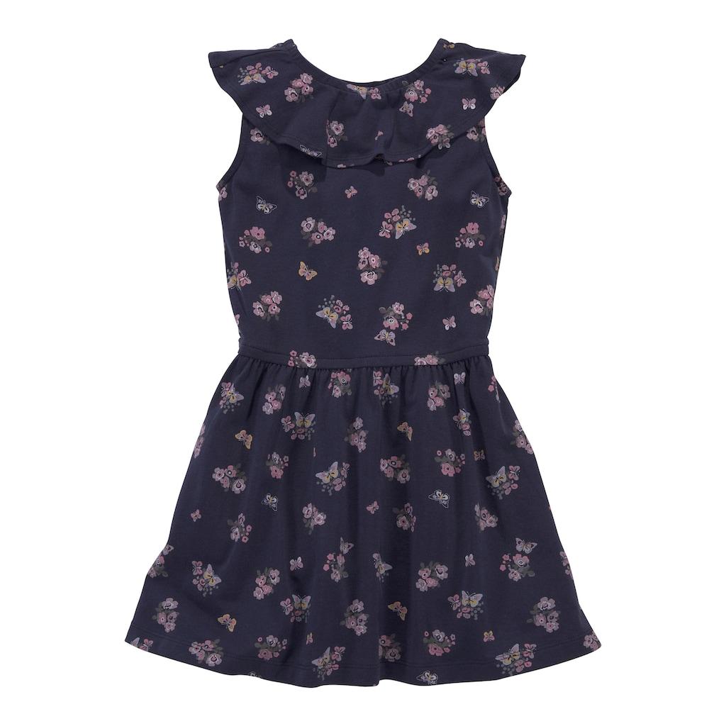 KIDSWORLD Jerseykleid, mit niedlichem Blumenmuster