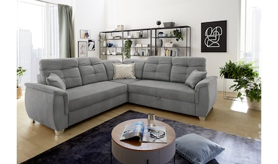Jockenhöfer Gruppe Ecksofa, mit 6 individuell, verstellbaren Kopfteilen, Gästebett-... kaufen