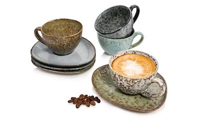 SÄNGER Tasse »Athen«, (8 tlg., Teetassen Athen aus Steingut 8 teilig) kaufen