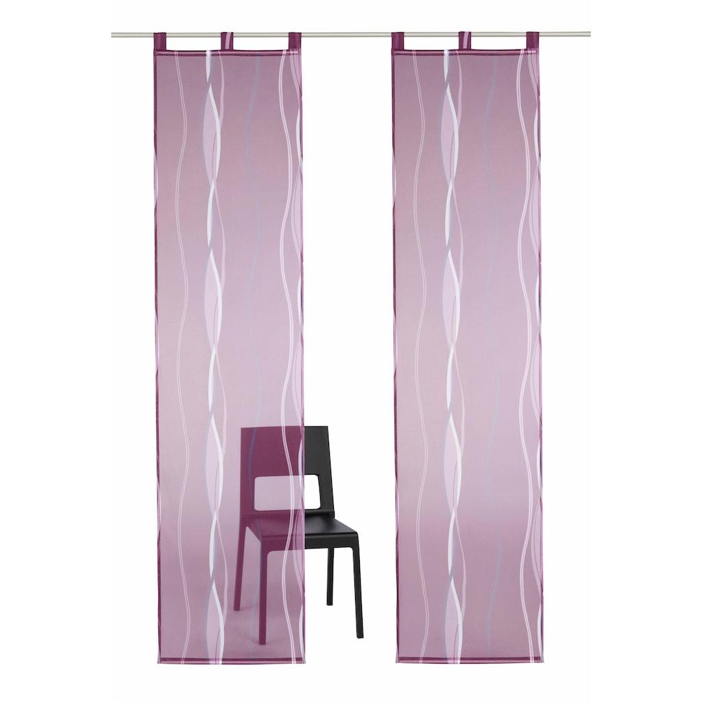 my home Schiebegardine »Dimona«, Fertiggardine, inkl. Beschwerungsstange, transparent
