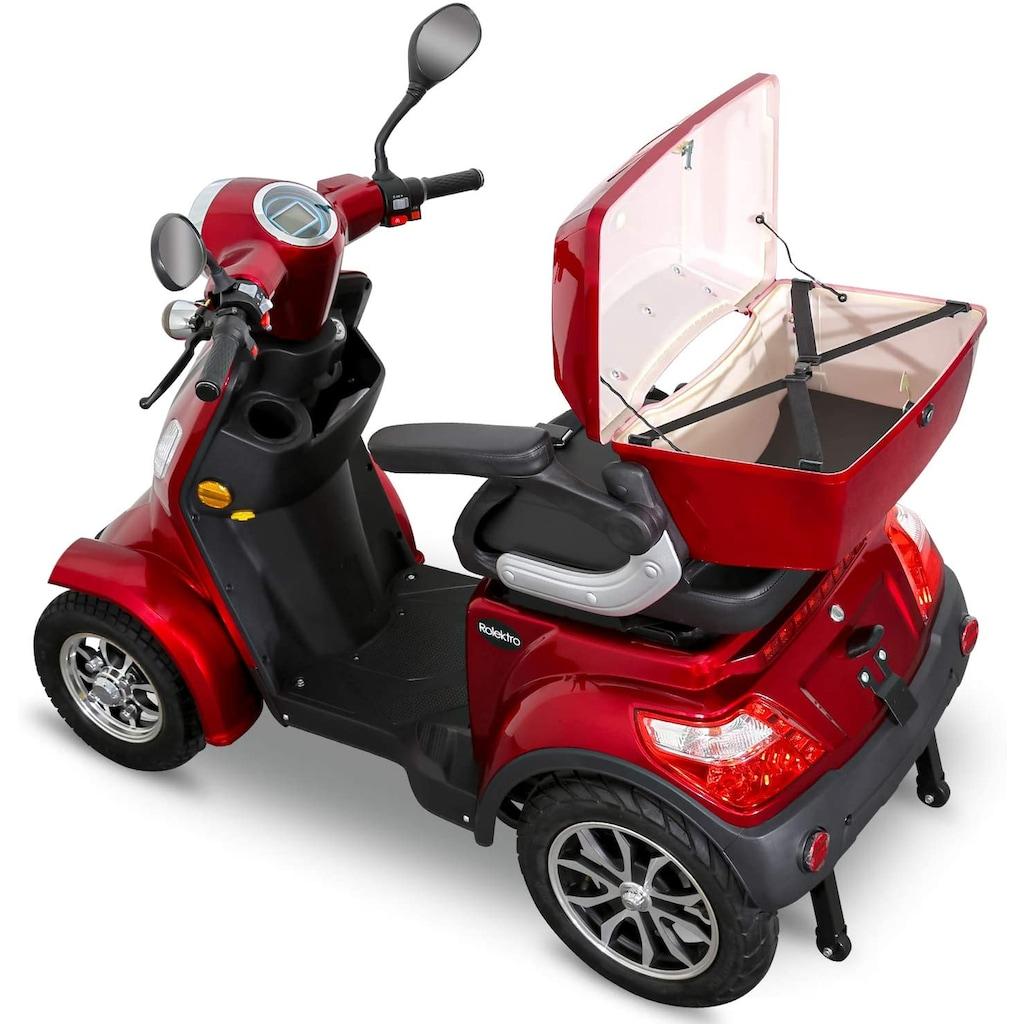 Rolektro Elektromobil »E-Quad 15, Blei-Gel-Akku«, 1000 W, 15 km/h, (mit Topcase)