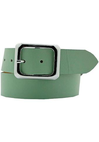 AnnaMatoni Ledergürtel, Eckige Schließe in Bicolor-Optik kaufen
