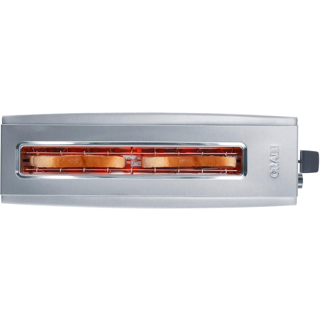 Graef Toaster »TO 90«, 1 langer Schlitz, 880 W, Langschlitztoaster, silber