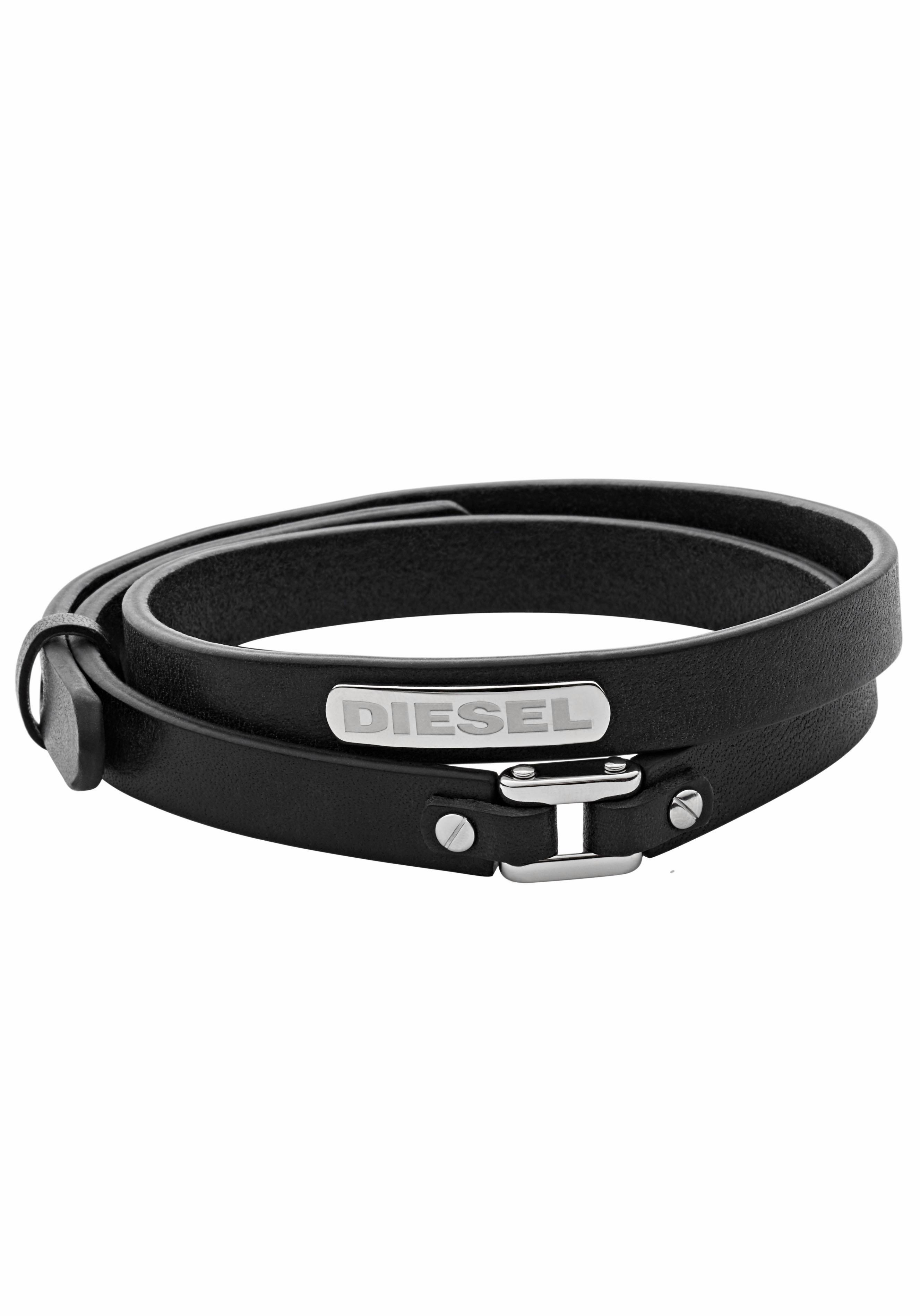 Diesel Wickelarmband STACKED DX0971040 | Schmuck > Armbänder > Wickelarmbänder | Schwarz | Diesel