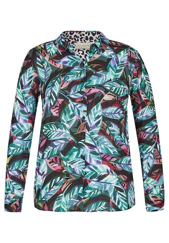 VIA APPIA Moderne Bluse mit Allover - Print Plus Size kaufen