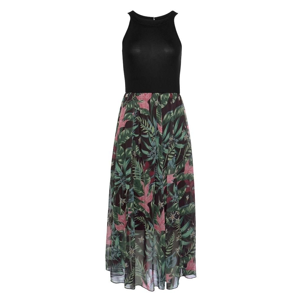 Aniston SELECTED Sommerkleid, mit ausgestellem, buntem Rockteil
