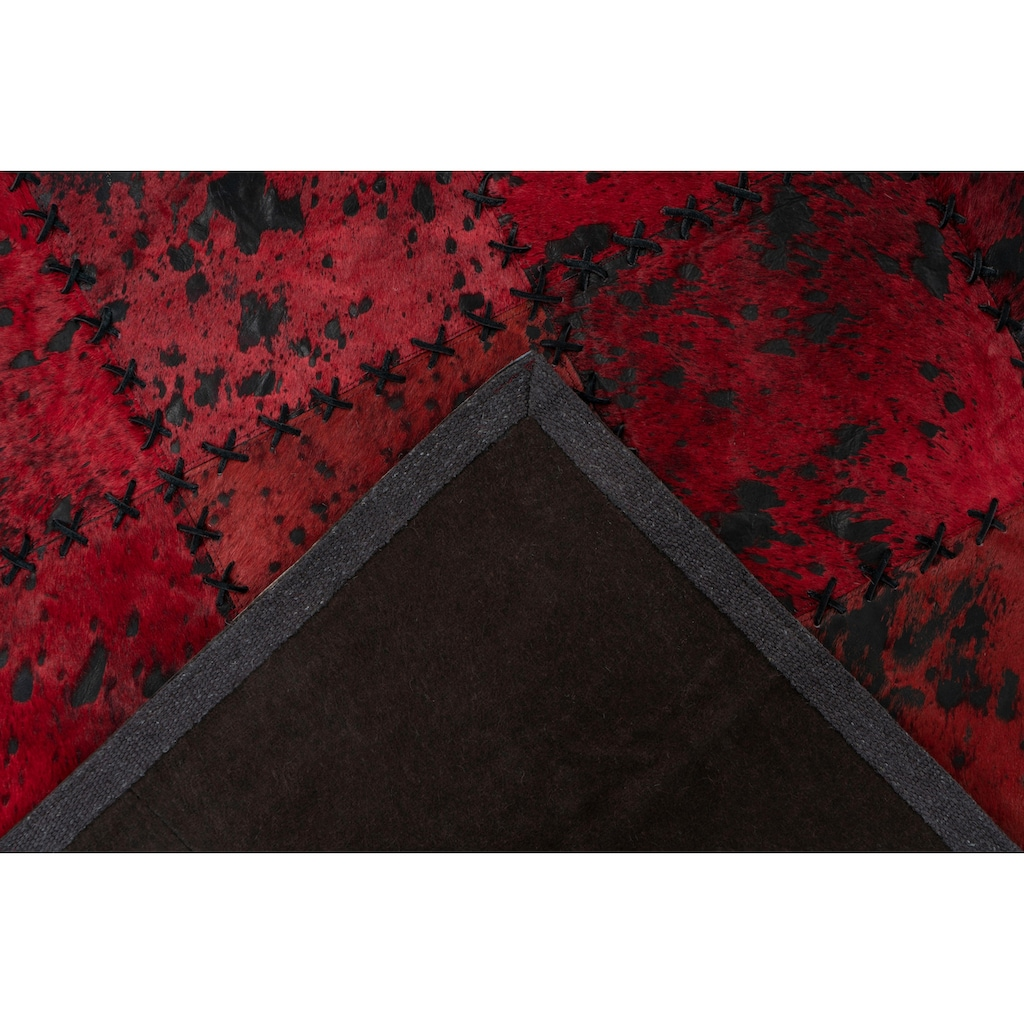 calo-deluxe Fellteppich »Rankel 205«, rechteckig, 5 mm Höhe, echtes Rinderfell, Wohnzimmer