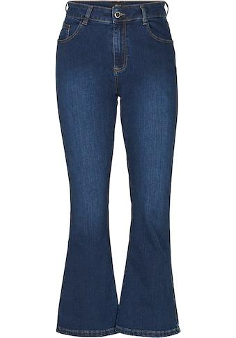 Zizzi Bootcut-Jeans, mit weitem Bein kaufen