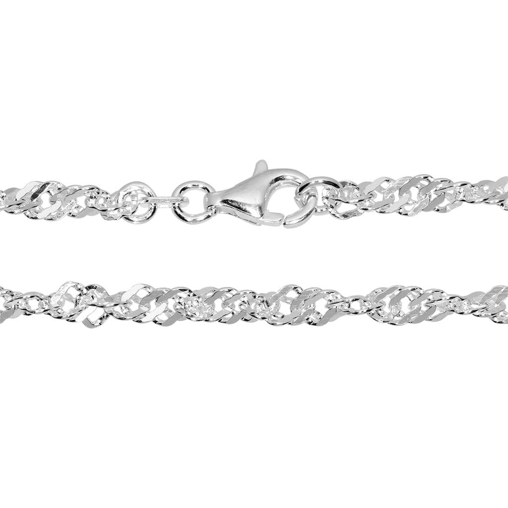 OSTSEE-SCHMUCK Silberkette »- Singapur 3,3 mm - Silber 925/000 -,«, (1 tlg.)