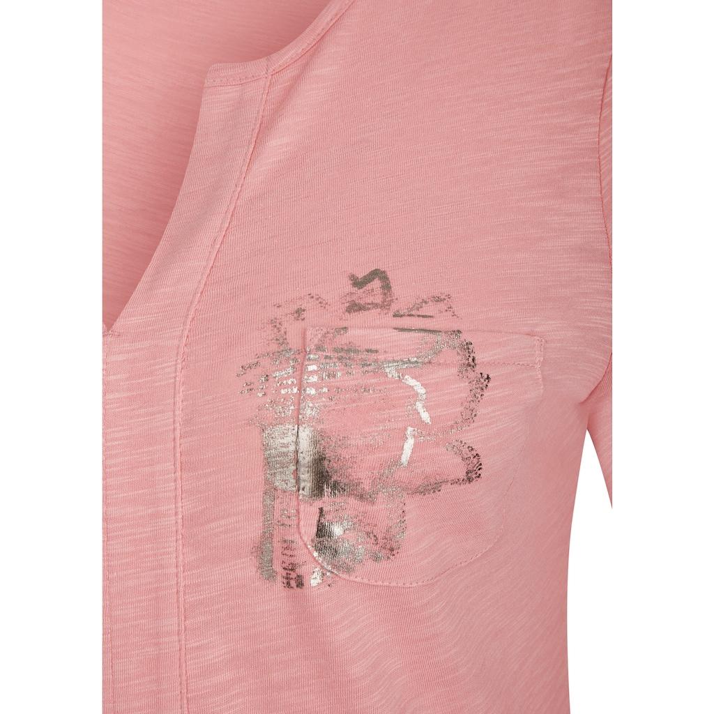 LeComte Shirt mit Tunnelzug und 7/8-Ärmeln